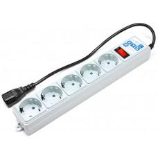 Сетевой фильтр Power Cube SPG-B-6Ext 1.9m Grey