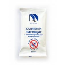 Антибактериальные салфетки для поверхностей NV-Office, мягкая упаковка, 180х110 мм,15шт
