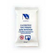 Антибактериальные салфетки для экранов NV-Office, мягкая упаковка, 153х129 мм,15шт