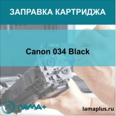 Заправка картриджа Canon 034 Black