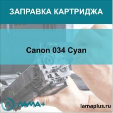 Заправка картриджа Canon 034 Cyan