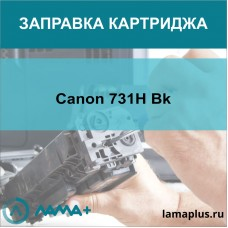 Заправка картриджа Canon 731H Bk