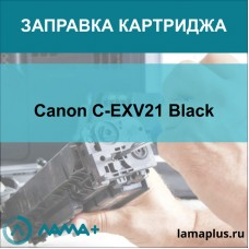 Заправка картриджа Canon C-EXV21 Black