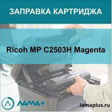 Заправка картриджа Ricoh MP C2503 Yellow